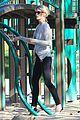 january jones joins instagram rides swings with xander 09