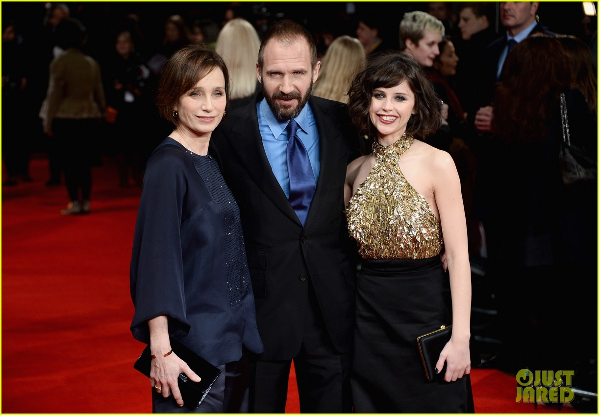 felicity jones ralph fiennes invisible woman uk premiere 213042172