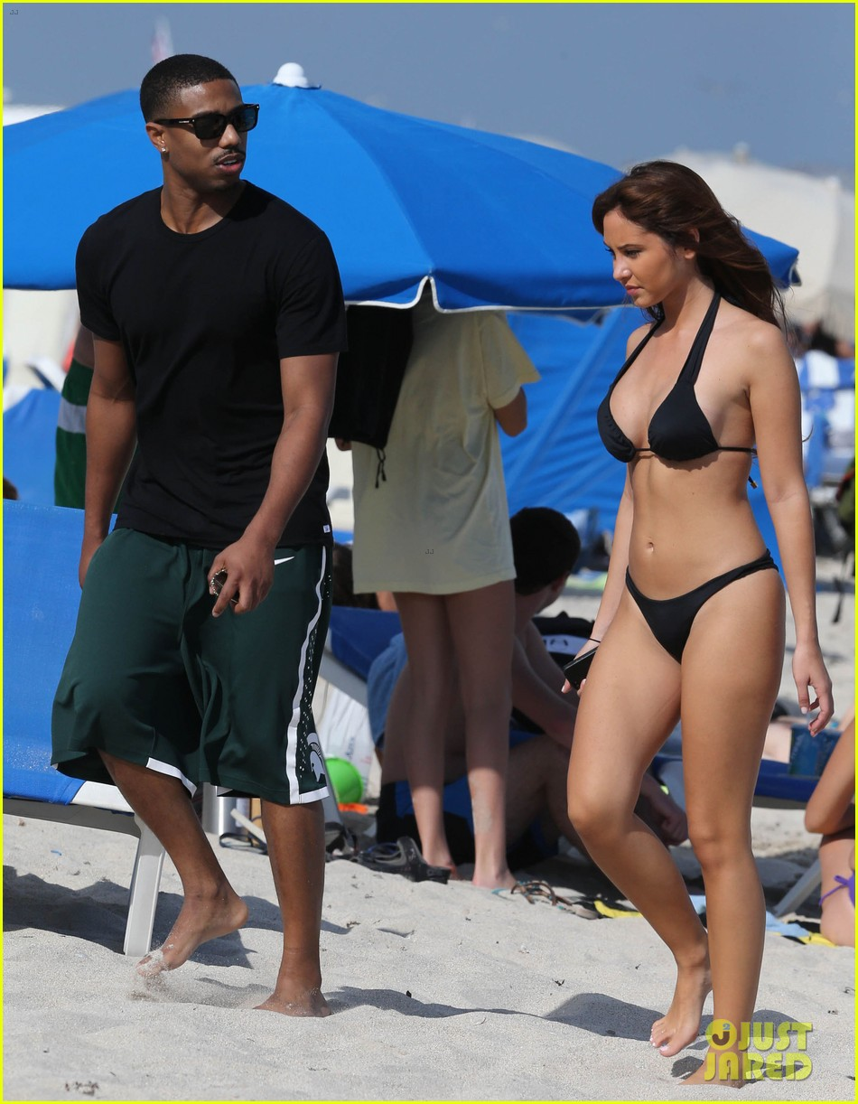 michael b jordan shirtless beach stroll with mystery girl 063040211