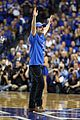 josh hutcherson gets greeted with district 12 salute at kentucky wildcats game 01
