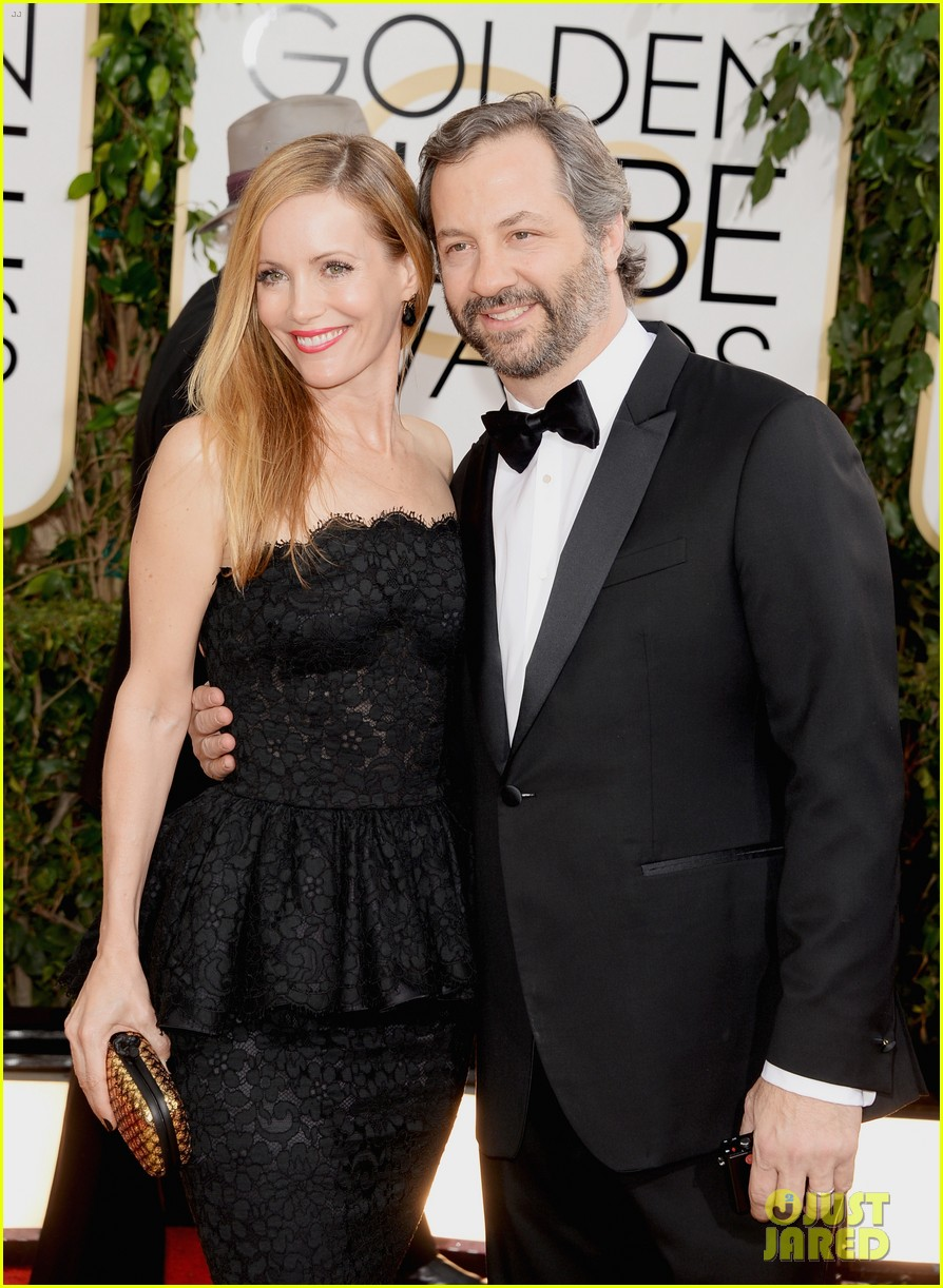 judd apatow leslie mann golden globes 2014 red carpet 05