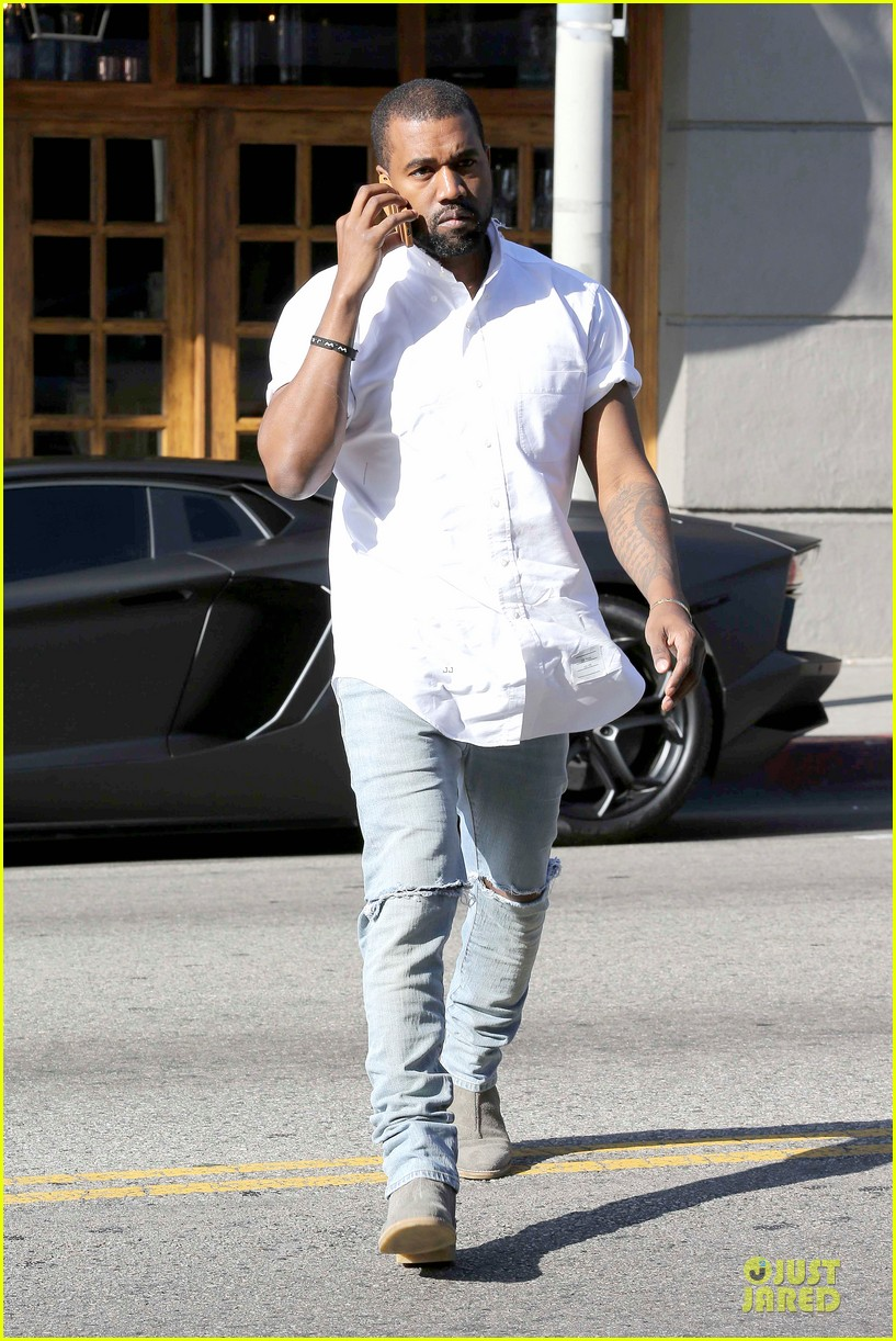 kim kardashian kanye west bright saturday outings 05