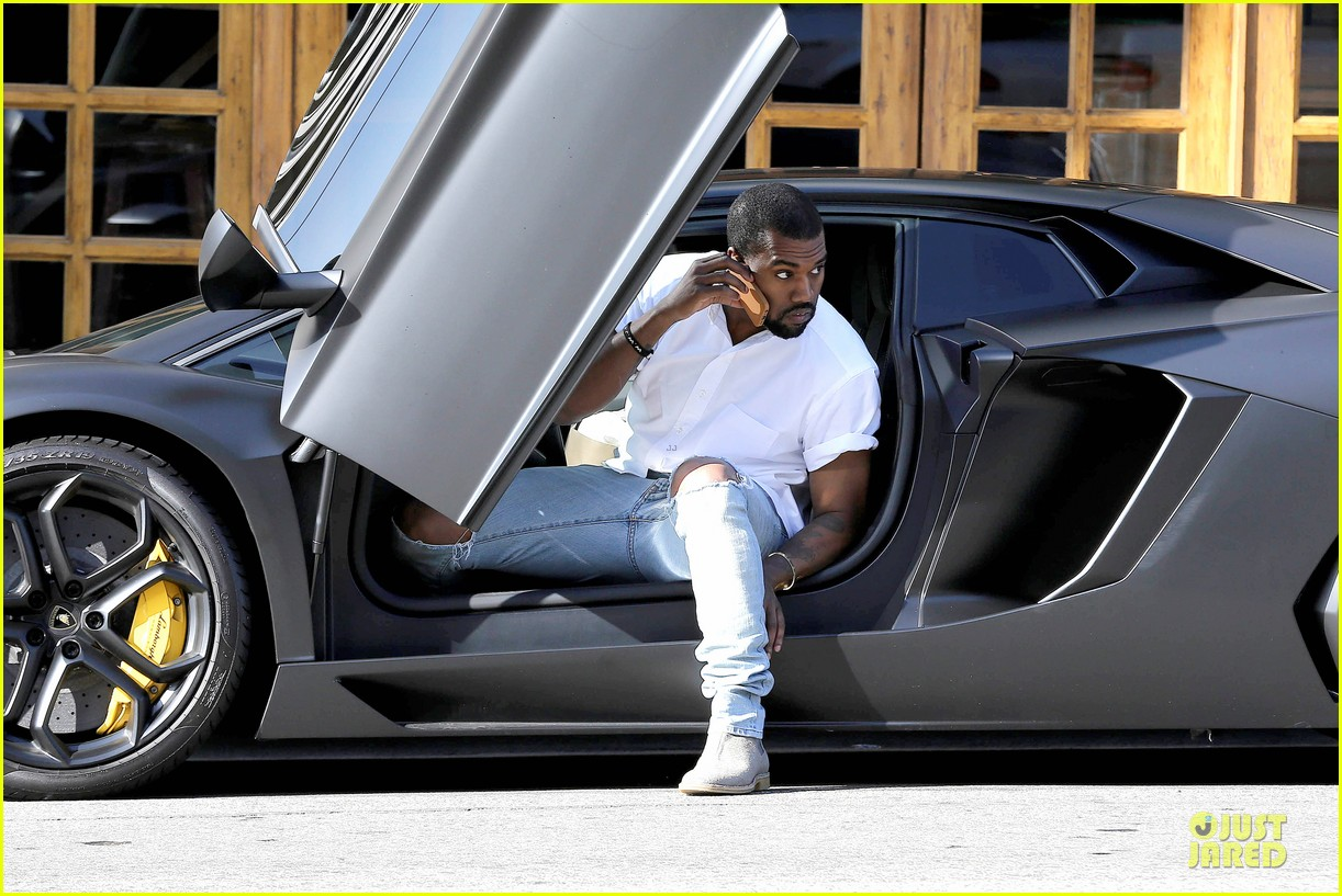 kim kardashian kanye west bright saturday outings 093027988