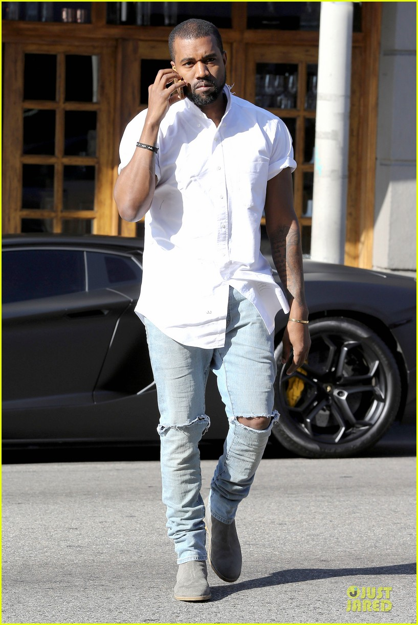 kim kardashian kanye west bright saturday outings 143027993