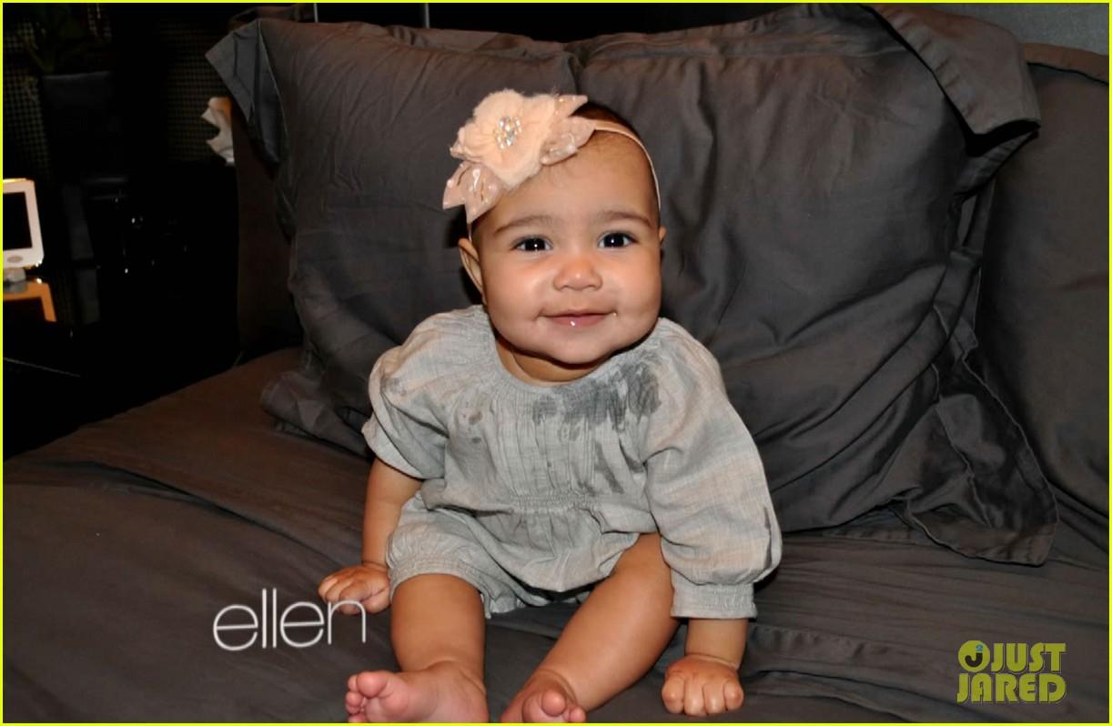 Kim Kardashian Shares New Baby North West Photos on 'Ellen ...