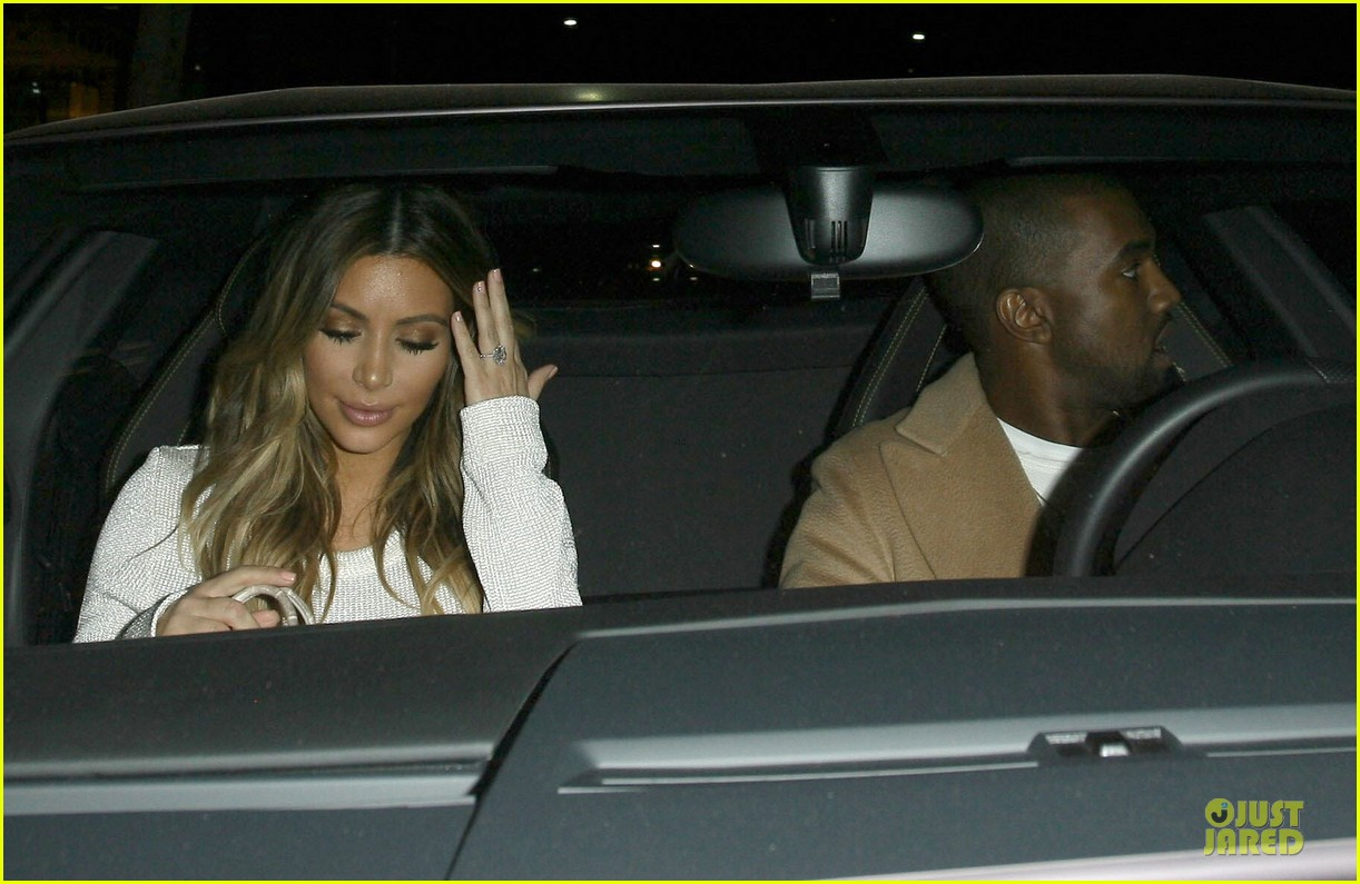 kim kardashian bares midriff for dinner with kanye west 193029911