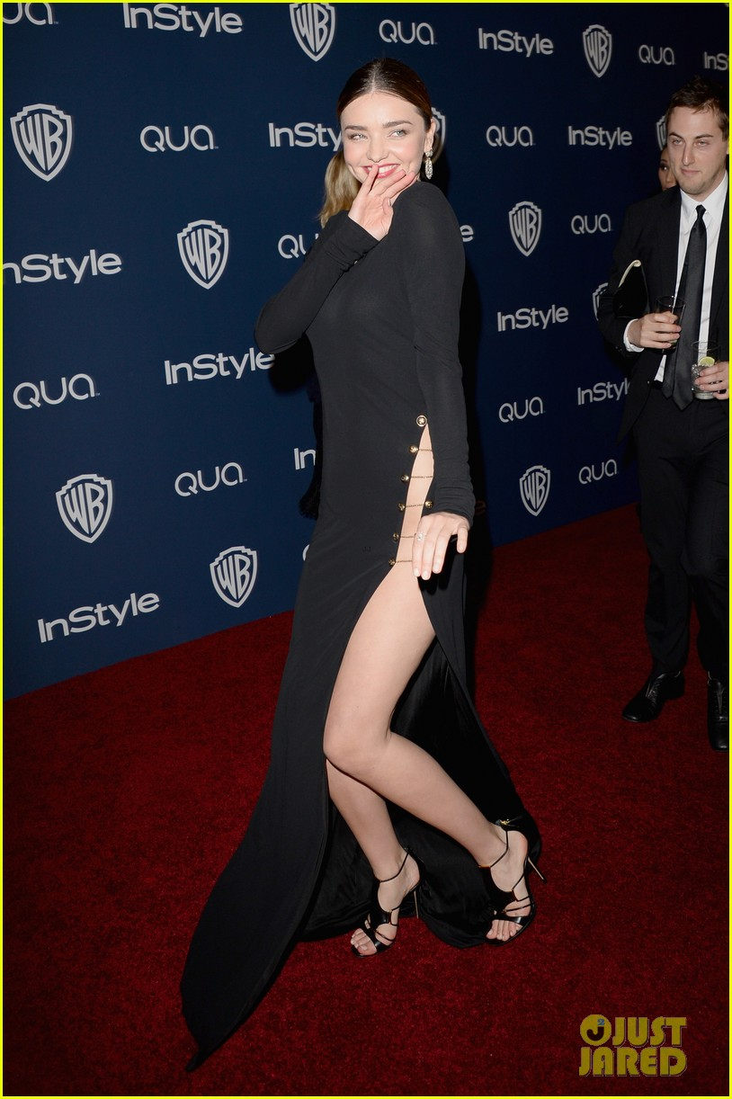 miranda kerr rocks full body slit at golden globes party 2014 073030013