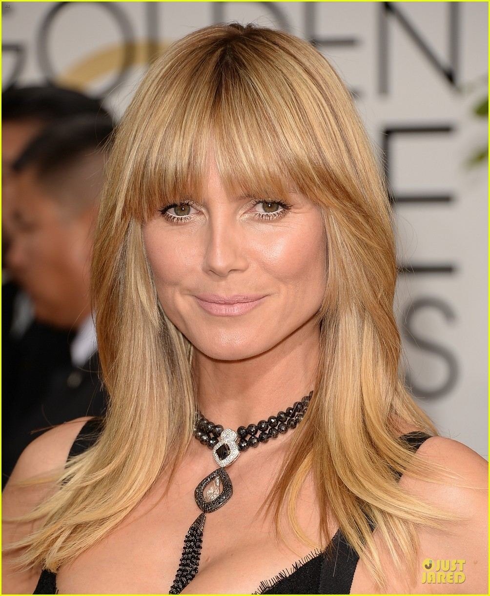 heidi klum golden globes 2014 red carpet 083029457