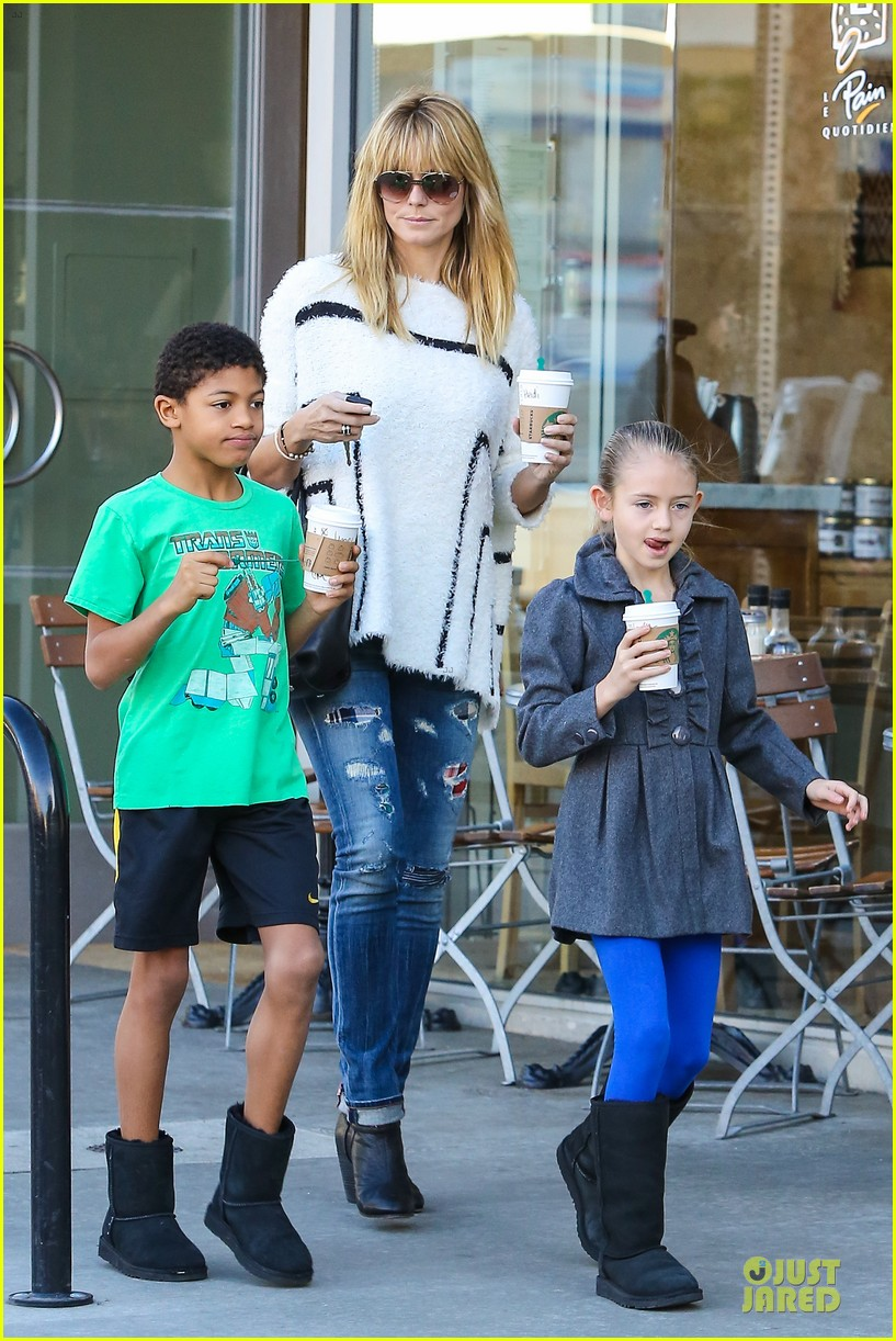 heidi klum grabs coffee before jag gym stop with the kids 153036052