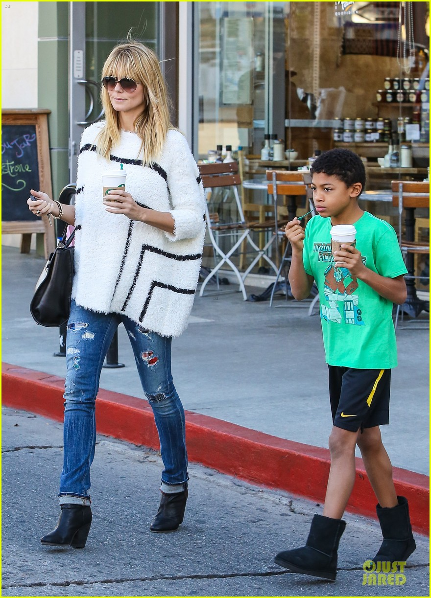 heidi klum grabs coffee before jag gym stop with the kids 163036053
