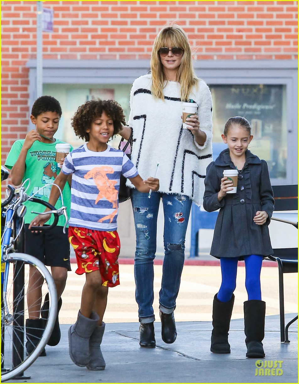 heidi klum grabs coffee before jag gym stop with the kids 173036054