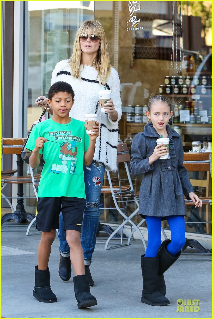 heidi klum grabs coffee before jag gym stop with the kids 193036056