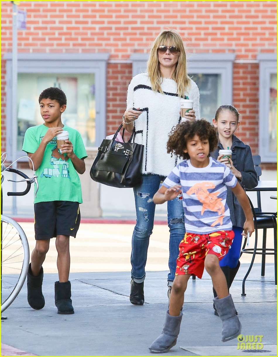heidi klum grabs coffee before jag gym stop with the kids 203036057