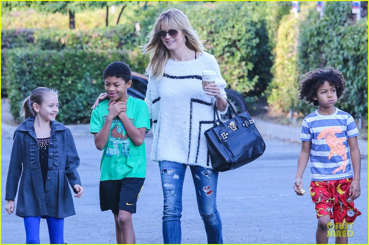 heidi klum grabs coffee before jag gym stop with the kids 223036059