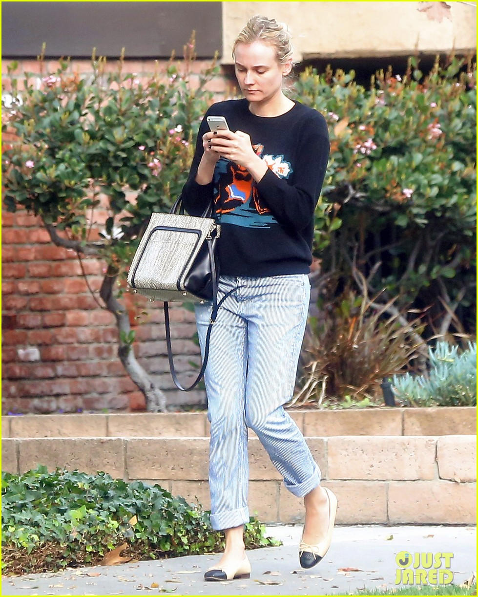 diane kruger wears no makeup looks fresh faced for errand run 063044883