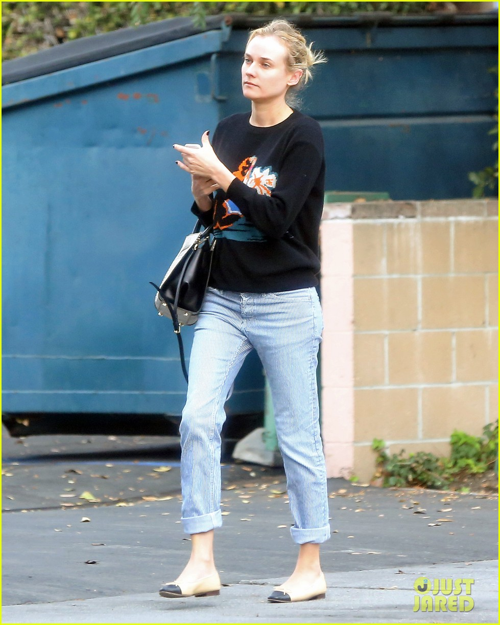 diane kruger wears no makeup looks fresh faced for errand run 08