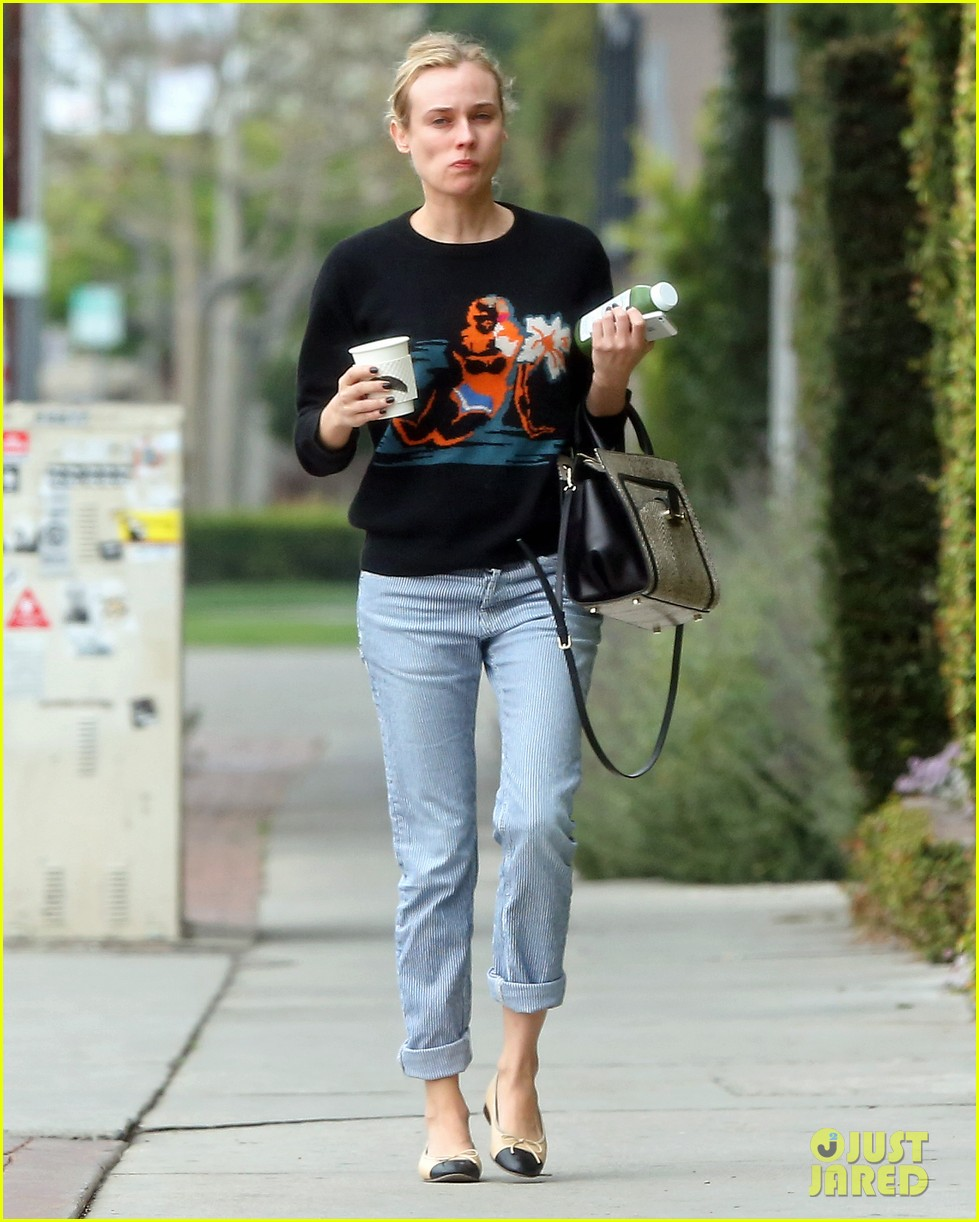 diane kruger wears no makeup looks fresh faced for errand run 093044886