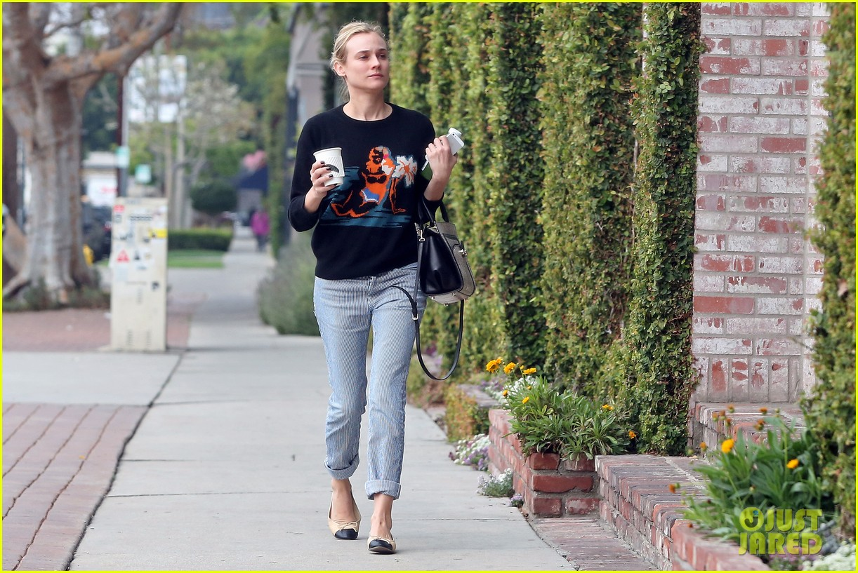 diane kruger wears no makeup looks fresh faced for errand run 13