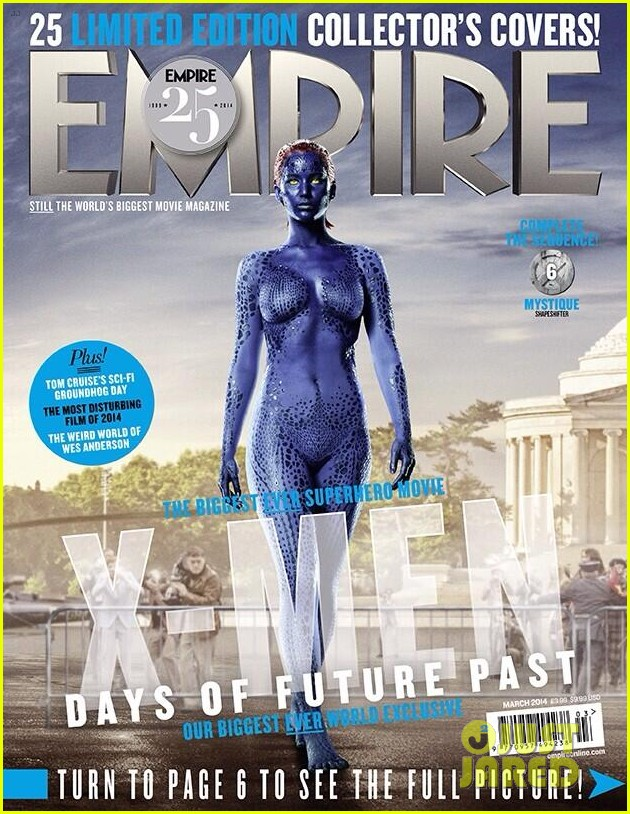 jennifer lawrence is mystique on new x men magazine cover 02