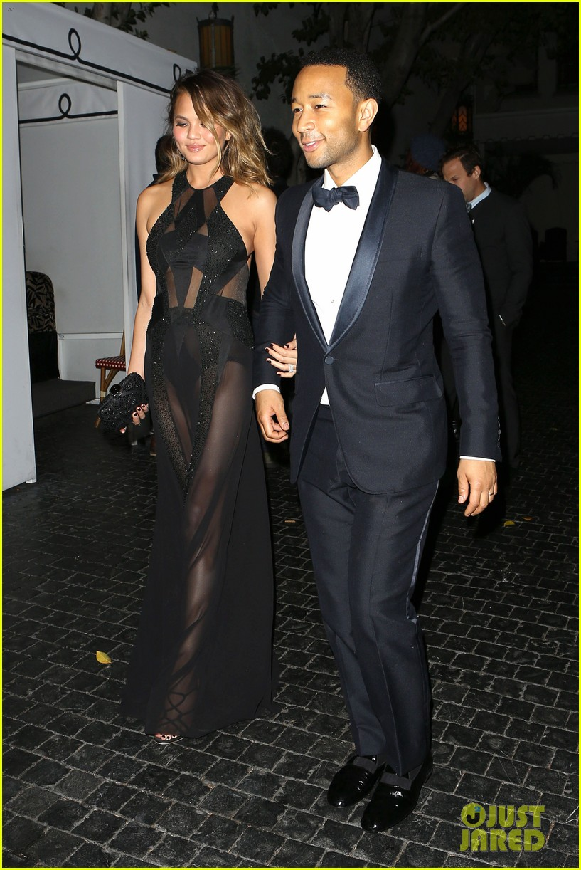 john legend chrissy teigen grammys 2014 after party 133041936