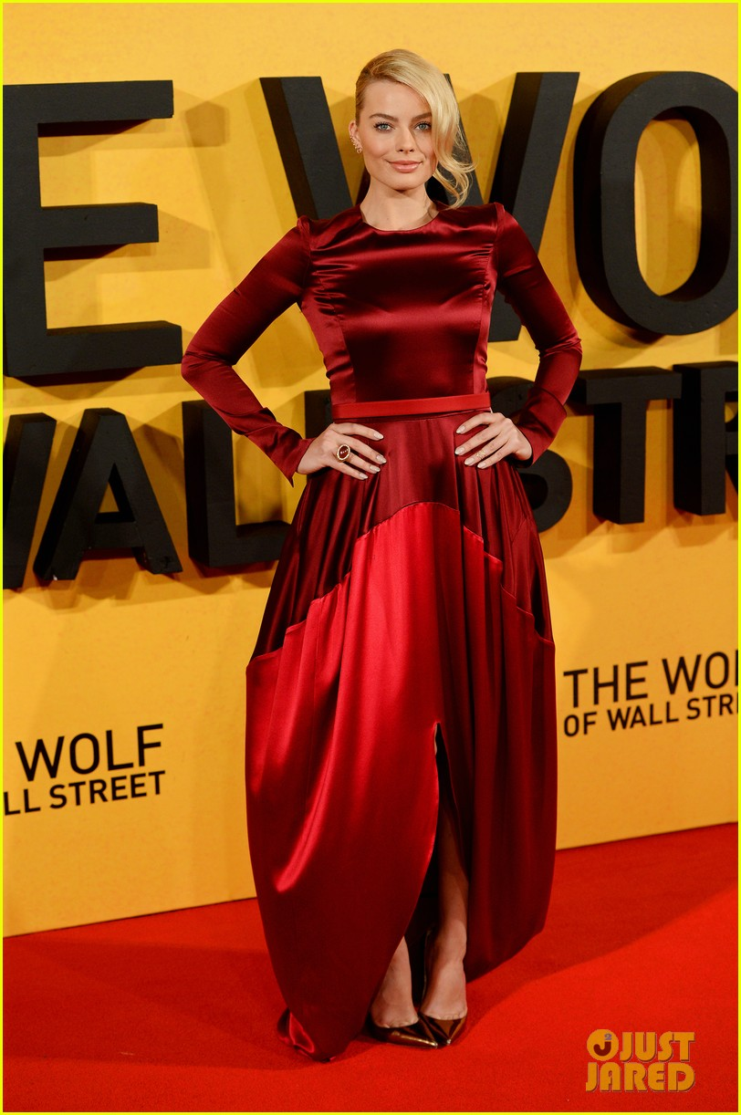 leonardo dicaprio margot robbie wolf of wall street uk premiere 073026301
