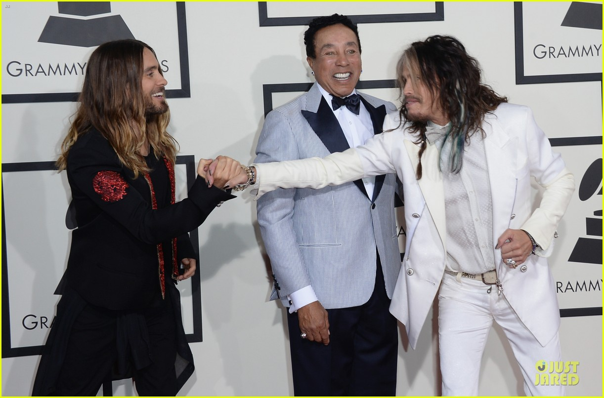 jared leto 30 seconds to mars grammys 2014 red carpet 033041282