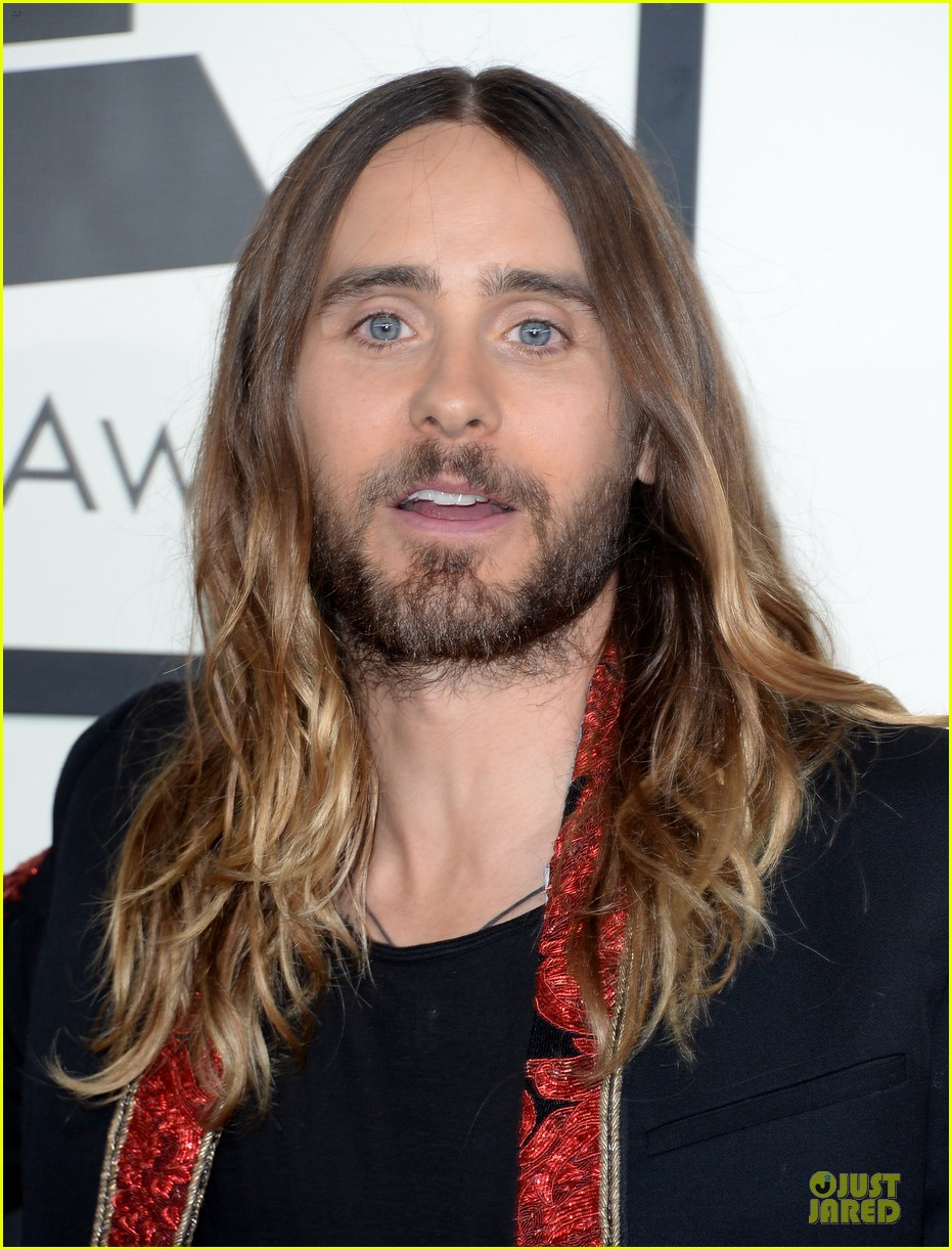 jared leto 30 seconds to mars grammys 2014 red carpet 043041283