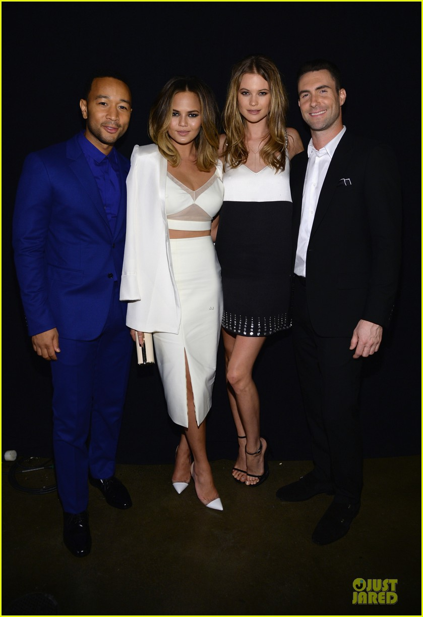 adam levine behati prinsloo backstage at beatles tribute 013042559