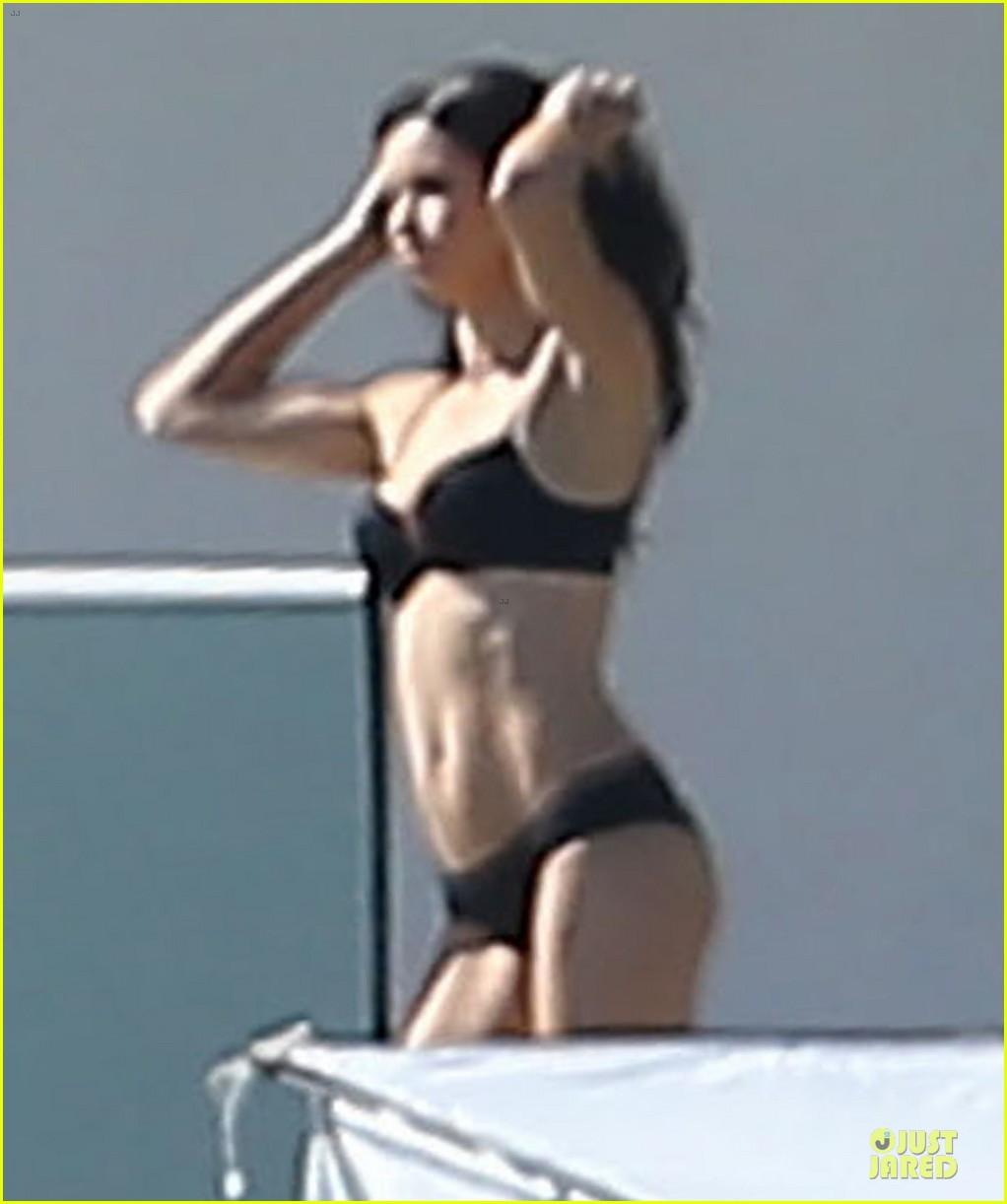 adriana lima rocks black bikini for victorias secret shoot 173034492