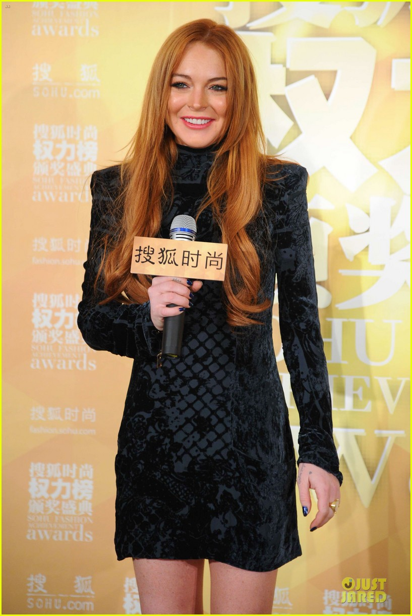lindsay lohan sohu fashion achievement awards ceremony 073024163