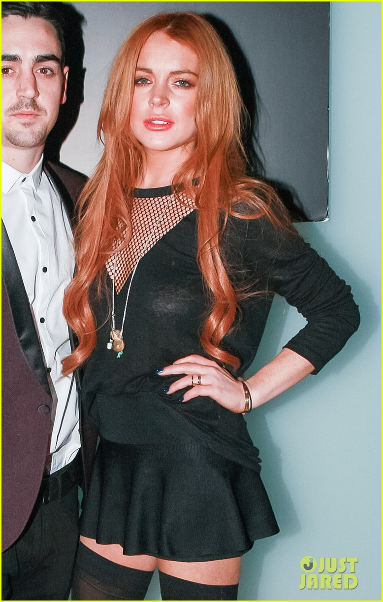 lindsay lohan no 41 night out with brother michael 013033506