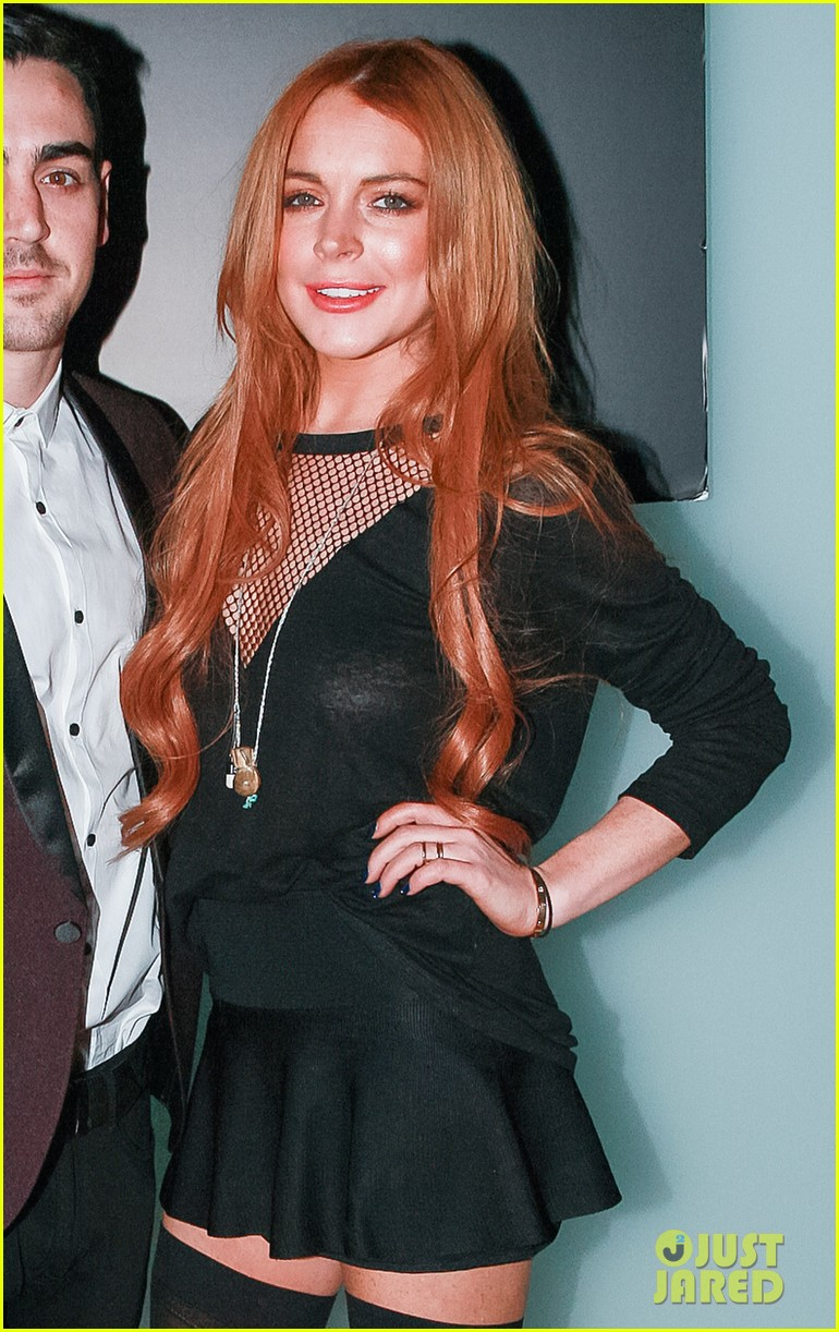 lindsay lohan no 41 night out with brother michael 043033509