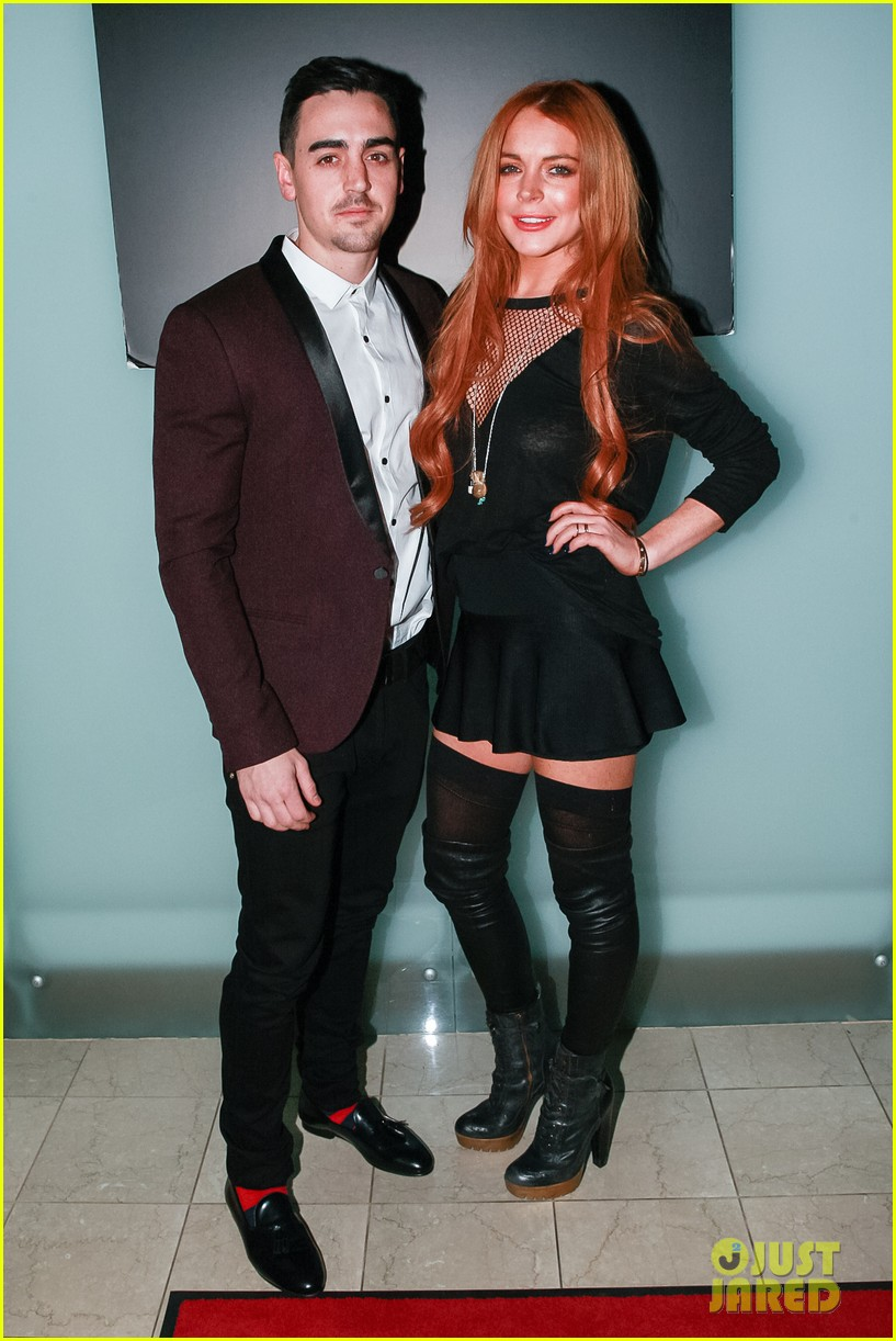lindsay lohan no 41 night out with brother michael 053033510