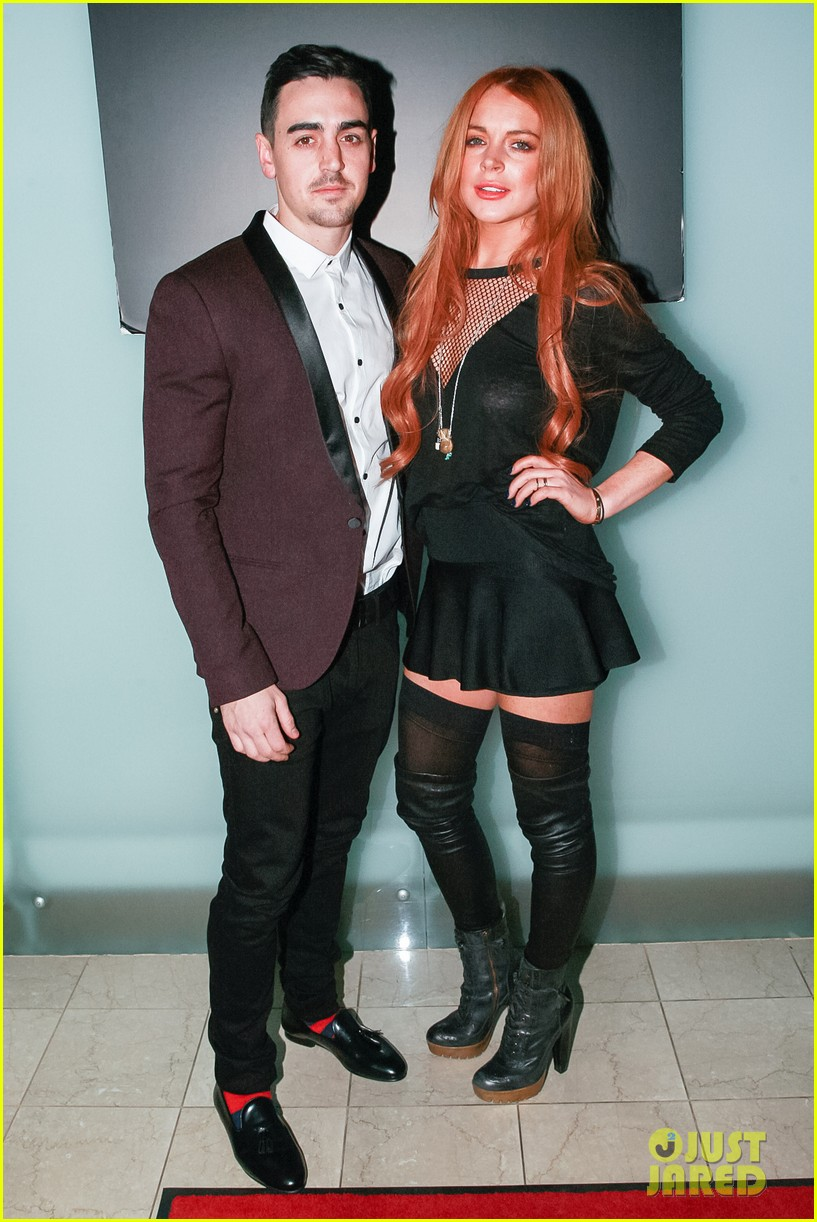 lindsay lohan no 41 night out with brother michael 063033511