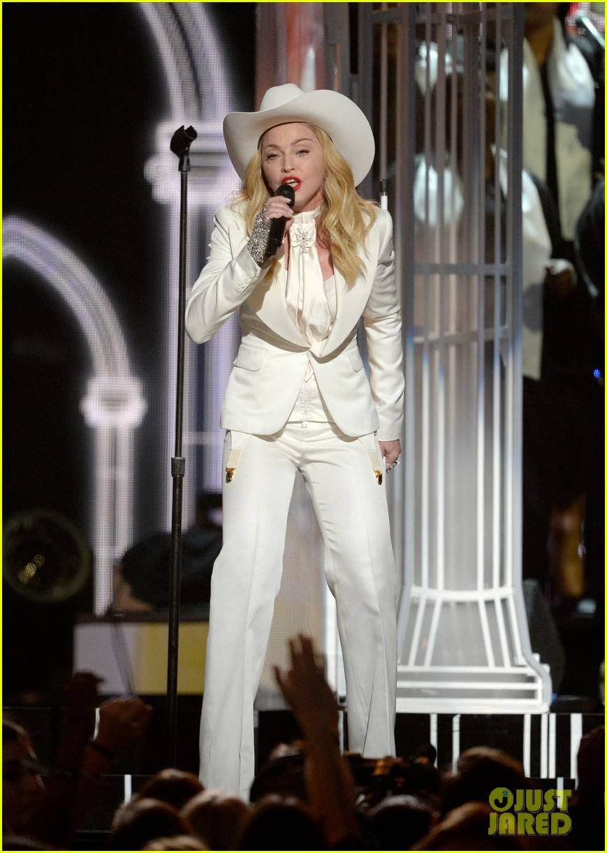 madonna performs open your heart at grammys 2014 video 033041555
