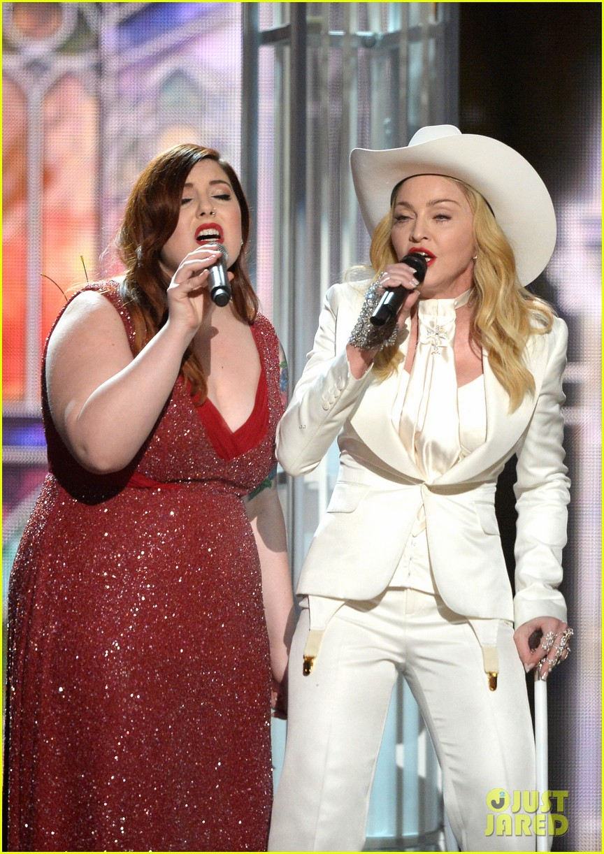 madonna performs open your heart at grammys 2014 video 043041556