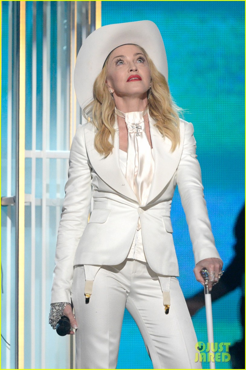 madonna performs open your heart at grammys 2014 video 113041563