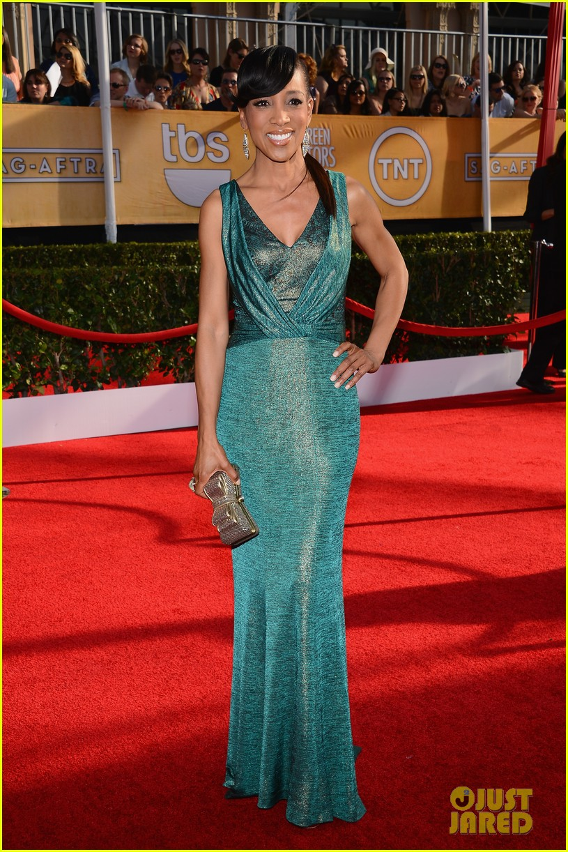 mario lopez nancy odell sag awards 2014 red carpet 033034546