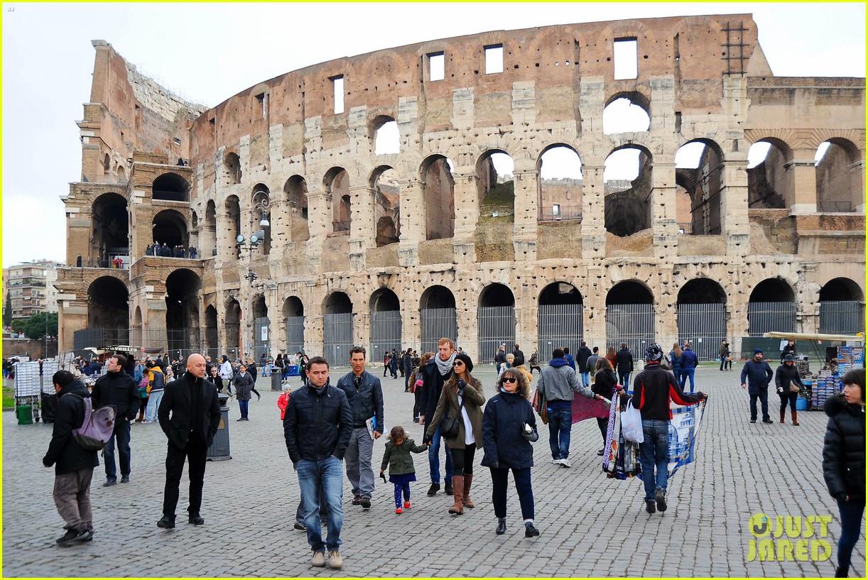 matthew mcconaughey camila alves rome sightseeing levi vida 123040741