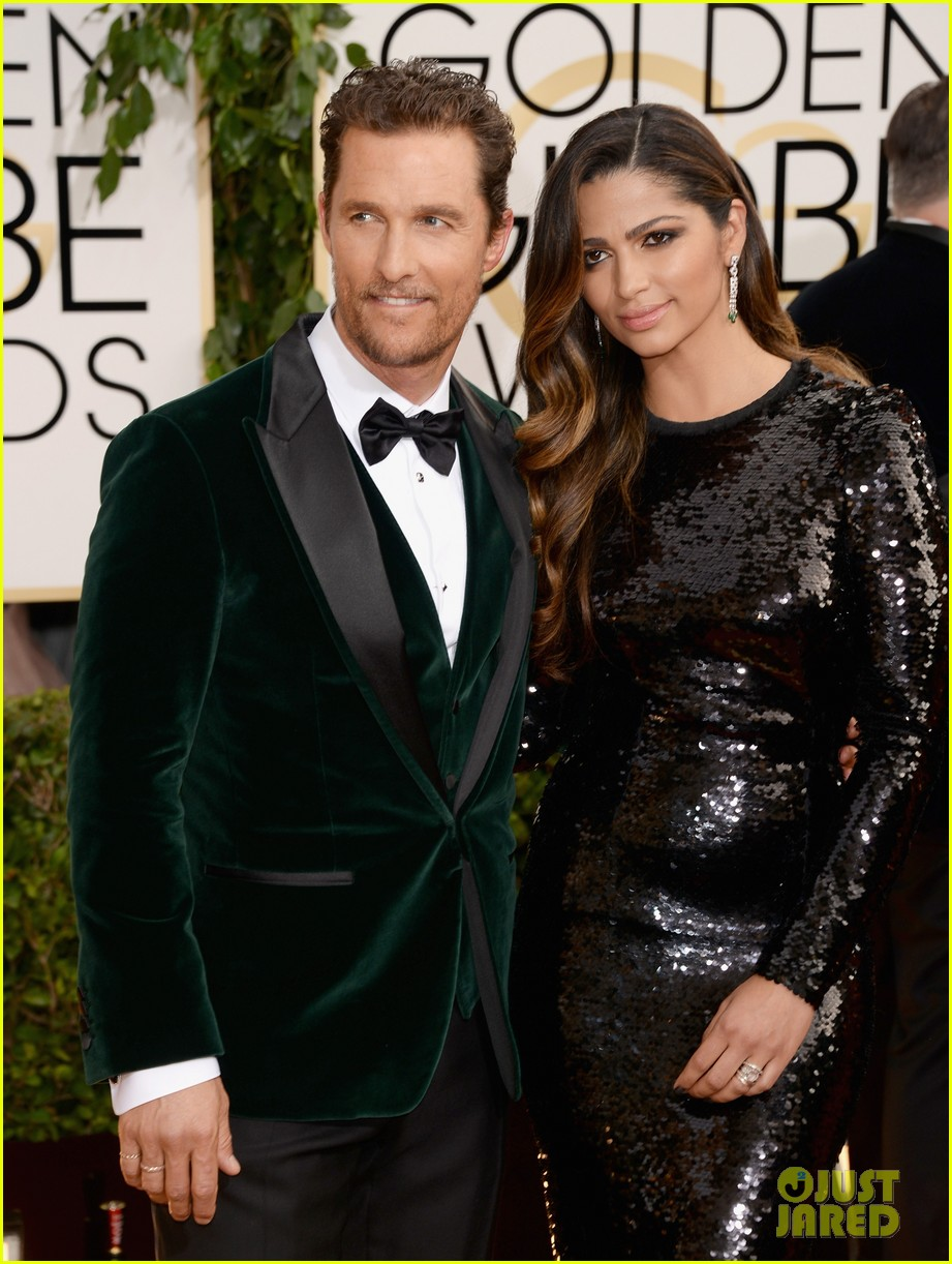 matthew mcconaughey golden globes 2014 with camila alves 023029243