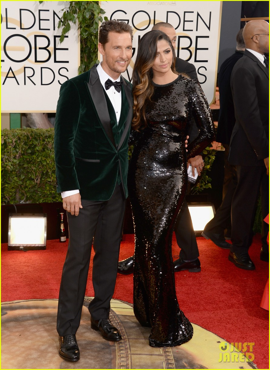 matthew mcconaughey golden globes 2014 with camila alves 033029244