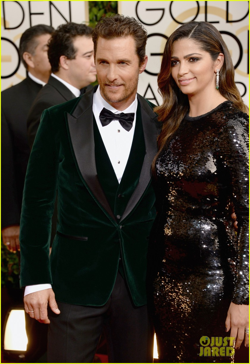matthew mcconaughey golden globes 2014 with camila alves 083029249