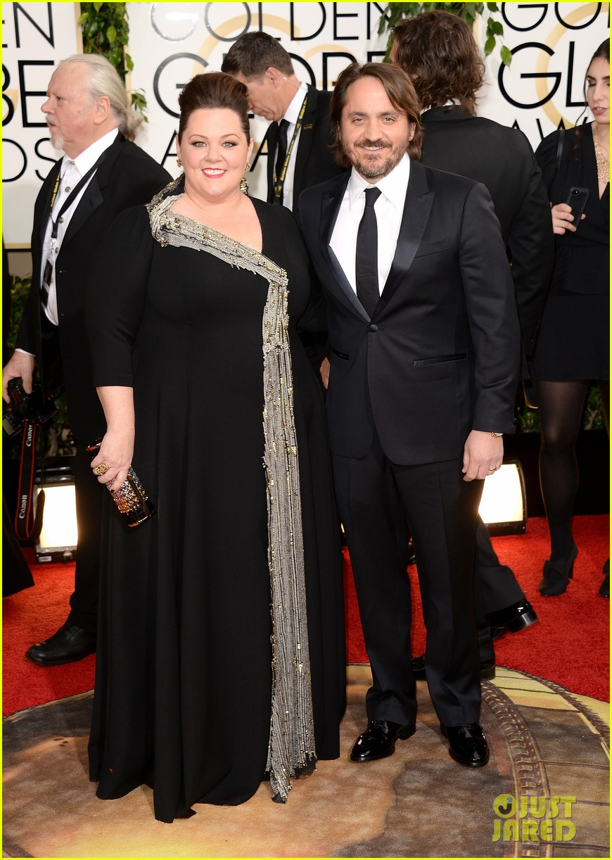 melissa mccarthy golden globes 2014 with ben falcone 013029618