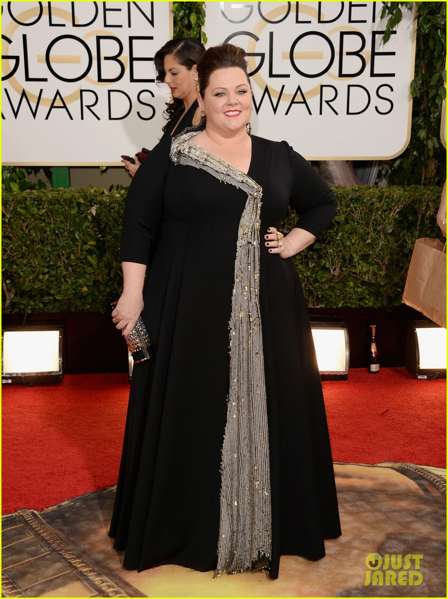 melissa mccarthy golden globes 2014 with ben falcone 033029620