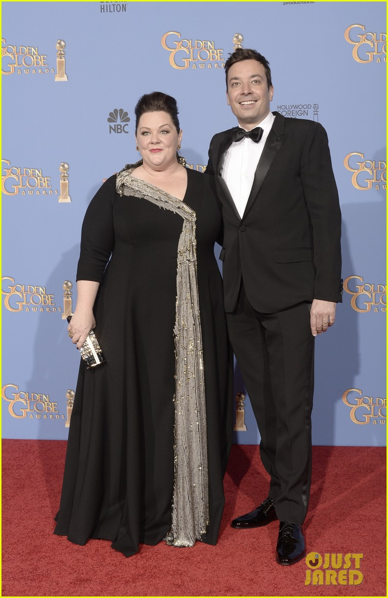 melissa mccarthy golden globes 2014 with ben falcone 043029621