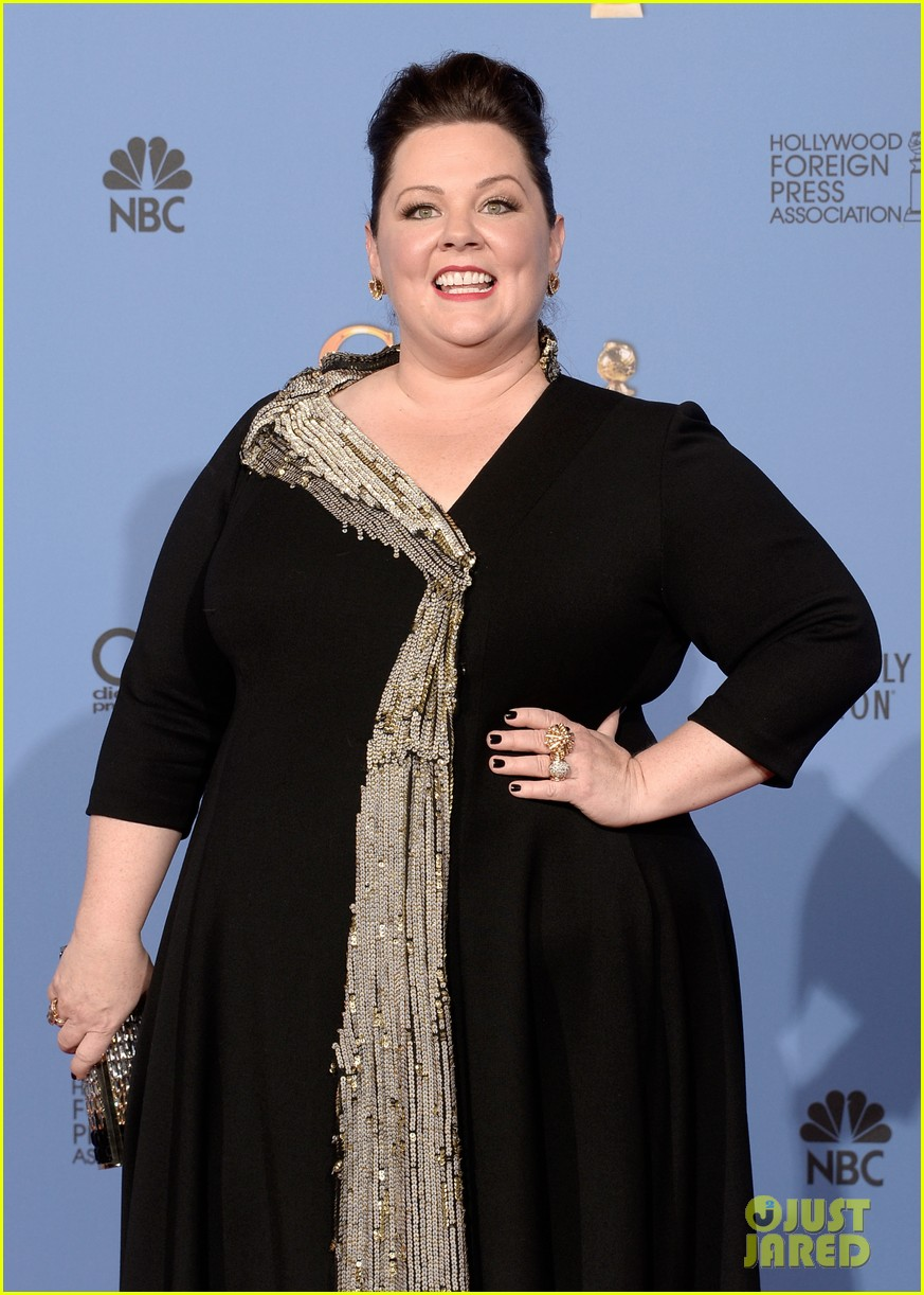 melissa mccarthy golden globes 2014 with ben falcone 063029623