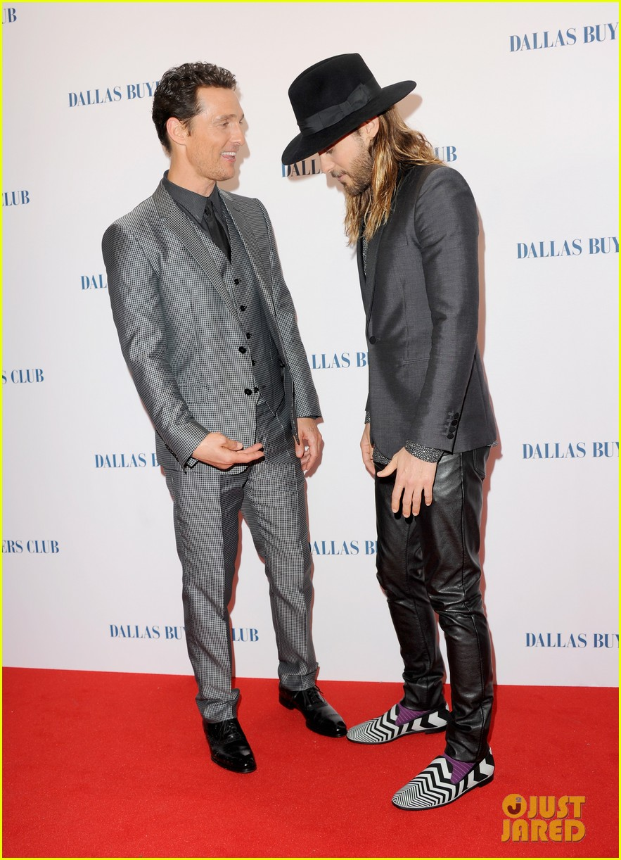 matthew mcconaughey jared leto reunite for dallas buyers club uk premiere 02