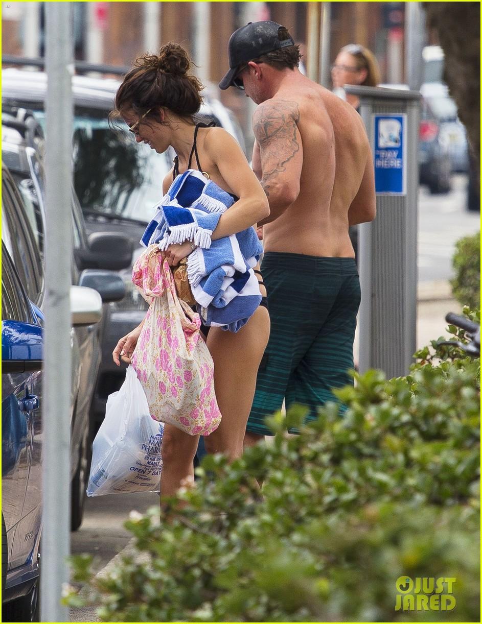 annalynne mccord bikini beach babe with shirtless dominic purcell 063021350