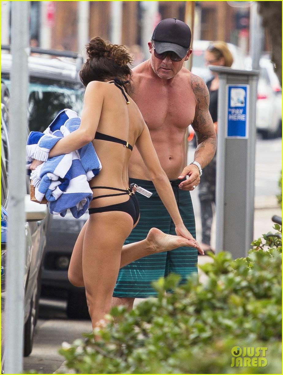annalynne mccord bikini beach babe with shirtless dominic purcell 273021371