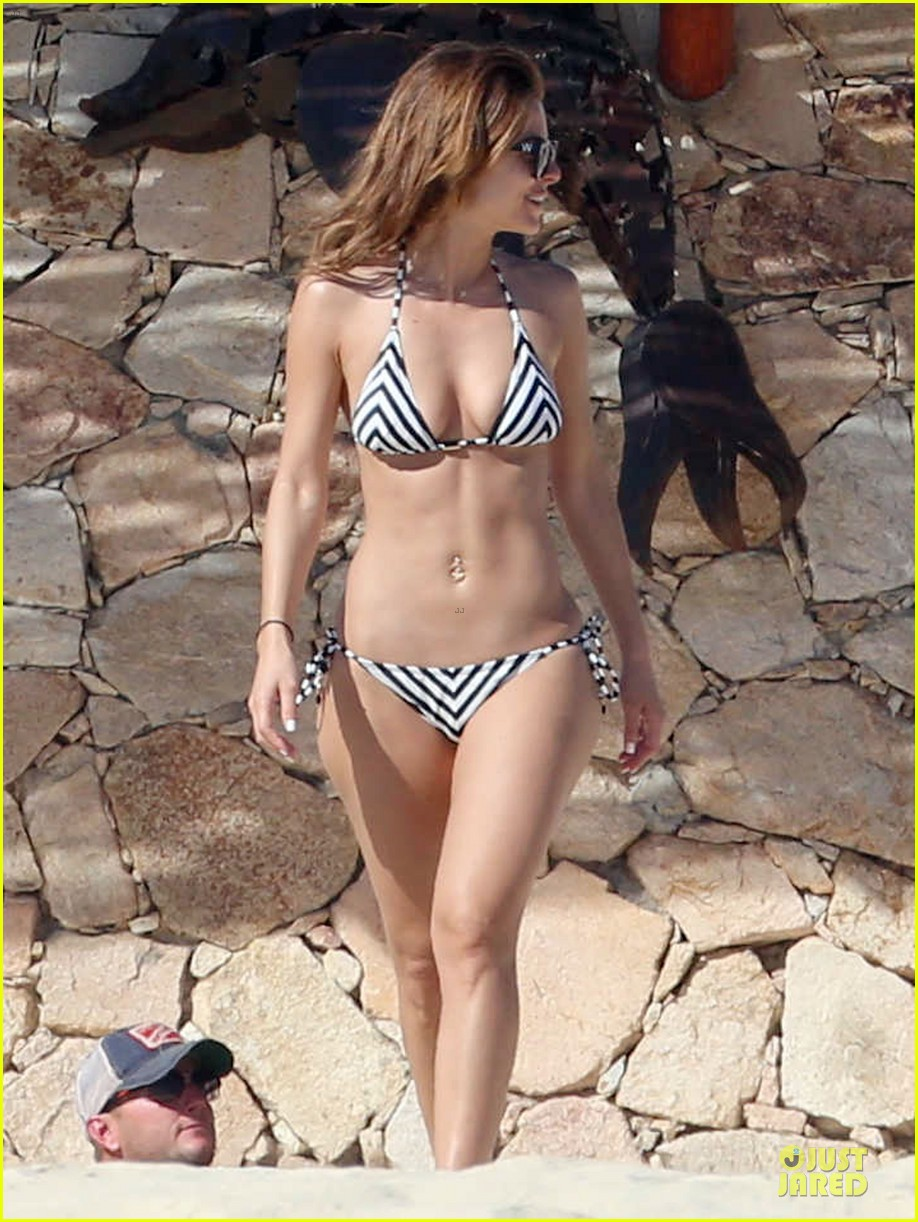 maria menounos black white bikini in cabo san lucas 153022559